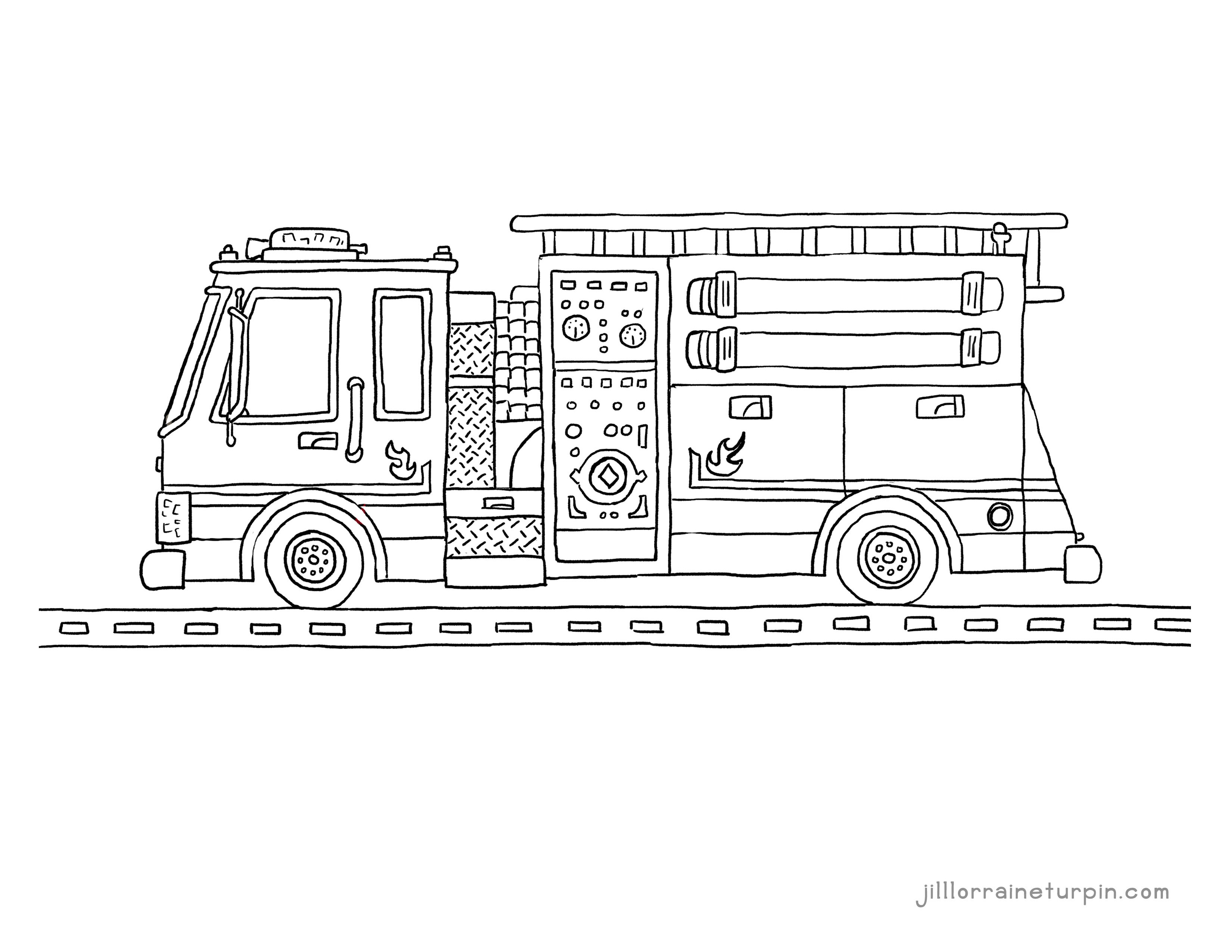 Free Printable Fire Truck Coloring Pages – My Very Own Fire Truck