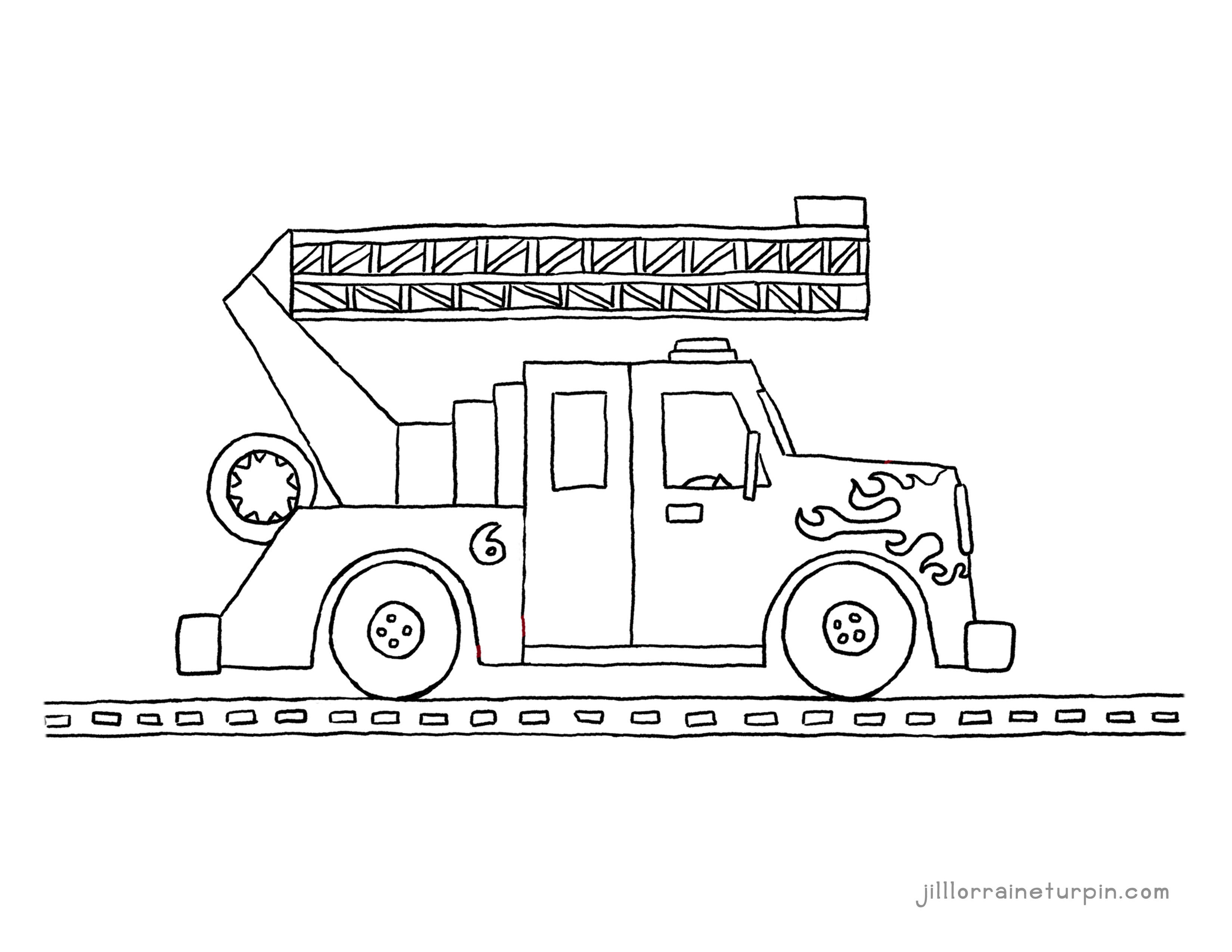 Coloring Pages - My Very Own Fire Truck